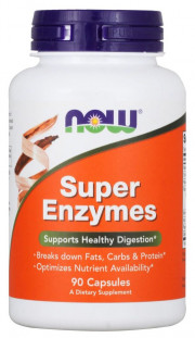 NOW Super Enzymes (90 кап)