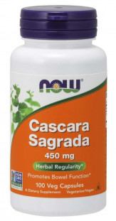 NOW Cascara Sagradа 450 мг (100 кап)